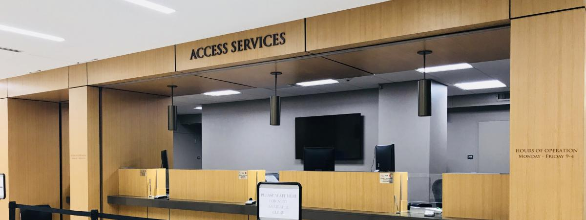 Image of Access Services Office from front