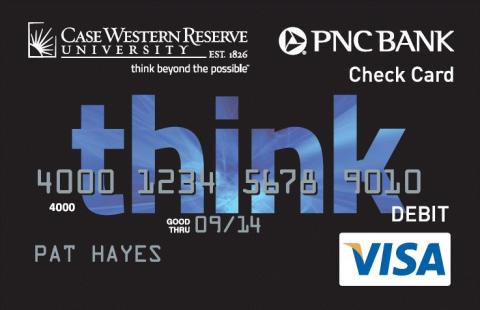 Sample of a student PNC debit card