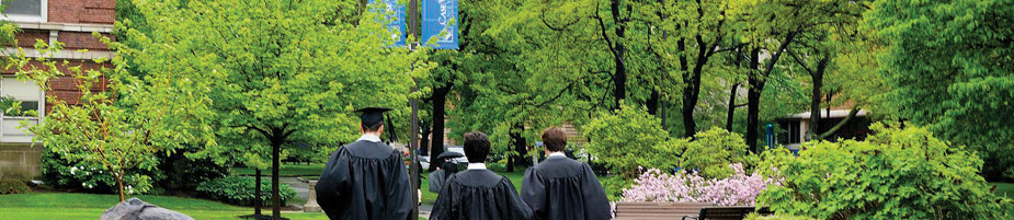 Three Case Western Reserve University walk to Commencement and their futures.