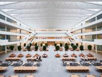 Health Education Campus Interior view of atrium
