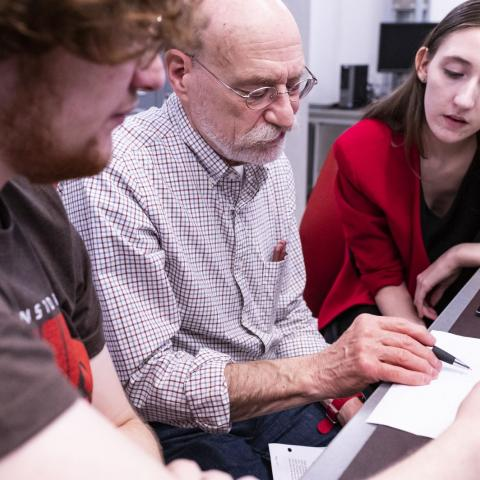 CWRU Professor Larry Sears shares his expertise in engineering with students.
