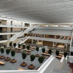 Health Education Campus atrium view