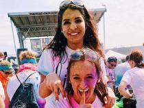 Sorority sisters at a color run