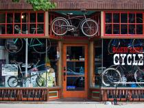 Exterior view of Blazing Saddles bike shop