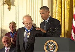image of Richard Gawrin receiving Presidential Medal of Freedom