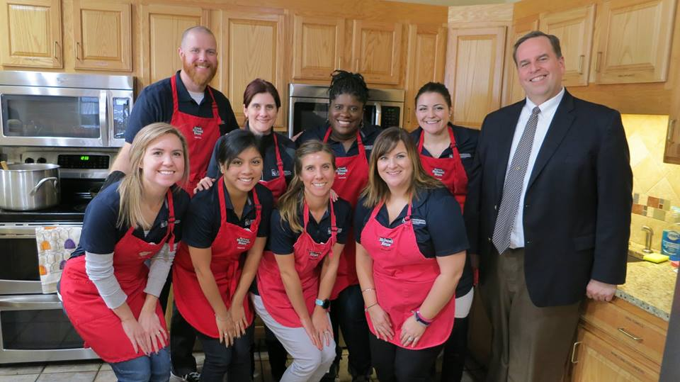 Alumni Association staff volunteering at Ronald McDonald House