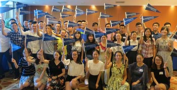 image of students and alumni and China Summer Send-off