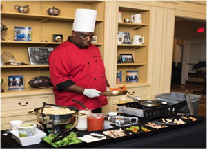 image of a chef from Del's Catering