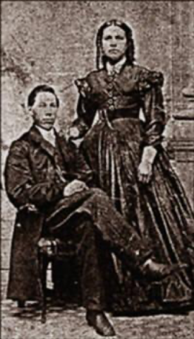 Antique photo of John Sykes Fayette and his wife
