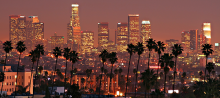 Los Angeles City Skyline, at dusk