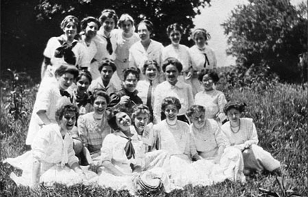 image of a group of women after the establishment of the college for women