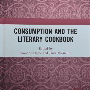Image of pink patterned book cover with title across the center