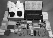 Photo of FBI kit used to identify victims of death