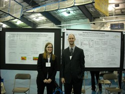 Aaron and Leah at Research ShowCase