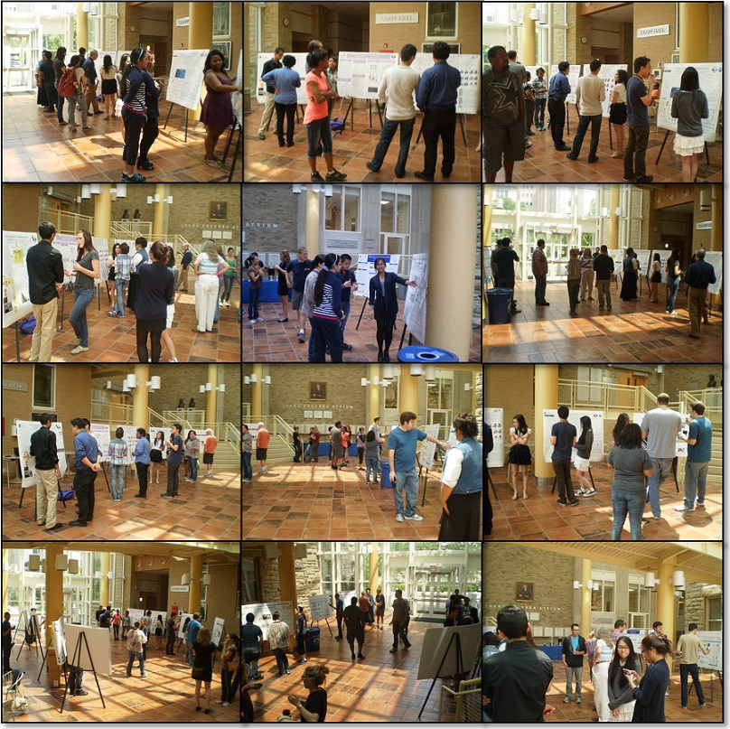project SEED final poster presentation collage in hovorka atrium