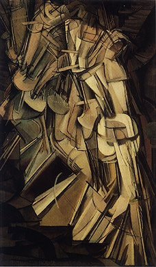 Nude Descending a Staircase, Duchamp, 1912.