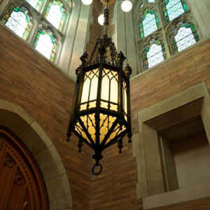 Photo of a lamp in a chapel