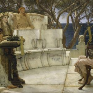 Sappho and Alcaeus is an 1881 oil painting by Lawrence Alma-Tadema.