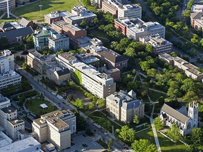 Aerial View Main Quad Case Western Reserve University