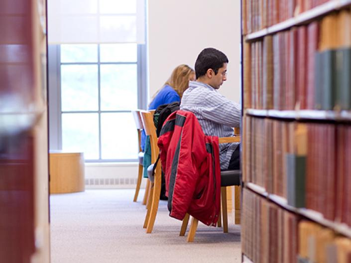 Case Western Reserve University Students in Kelvin Smith Library