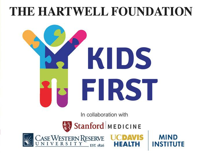 Logo: Hartwell Kids FIRST Project with Stanford, DC Davis, Mind Institute, CWRU