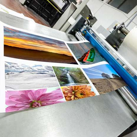Pictures being printed out