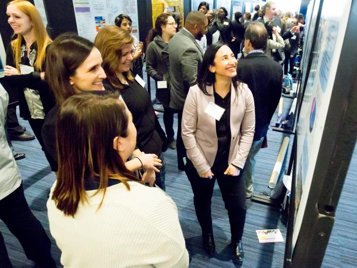 Photo of poster session at the 2019 Cancer Disparities Symposium