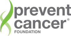 Logo for the Prevent Cancer Foundation