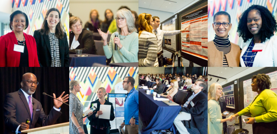 A collage of attendees of the 2018 Cancer Disparities Symposium