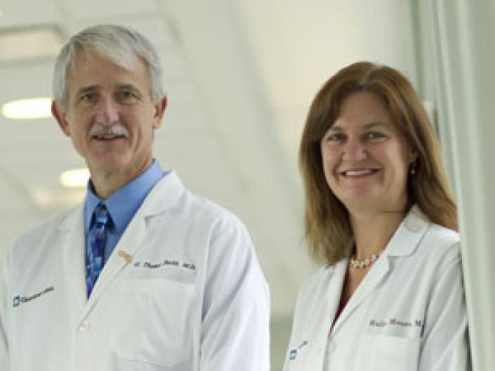Two of the doctor's at the Case Comprehensive Cancer Center