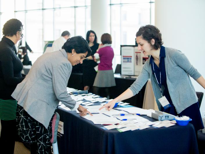 Registration table at the 2019 Cancer Disparities Symposium 2019