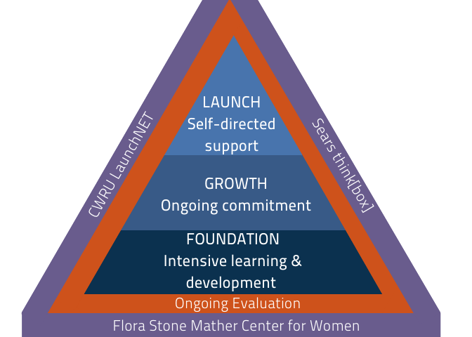 Triangular diagram of the PRISE Program.