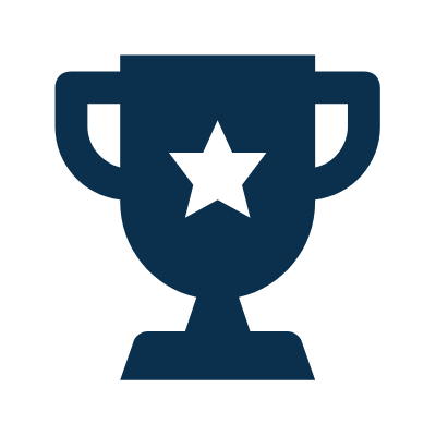Icon of a trophy with a star
