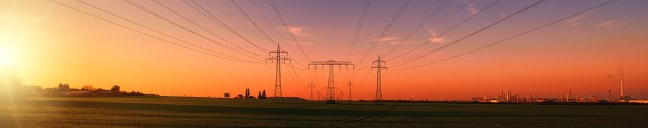 Photo of Electric Wires During Sunset