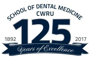 School of Dental Medicine CWRU 125 years of excellence logo