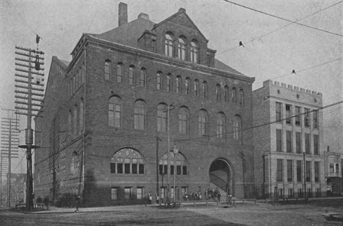 Photo from June 21, 1892 of the School of Dental Medicine, located on Adelbert Road in Cleveland Ohio.