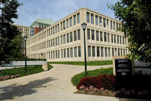 Photo from 2003 of the School of Dental Medicine, located on Adelbert Road in Cleveland Ohio.