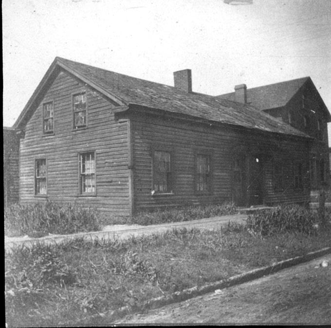 The Astor House, the oldest structure in Cleveland, as it appeared in the early 1900s. WRHS