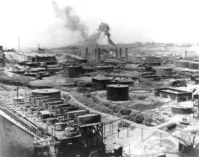 This panoramic view shows Standard Oil Co.