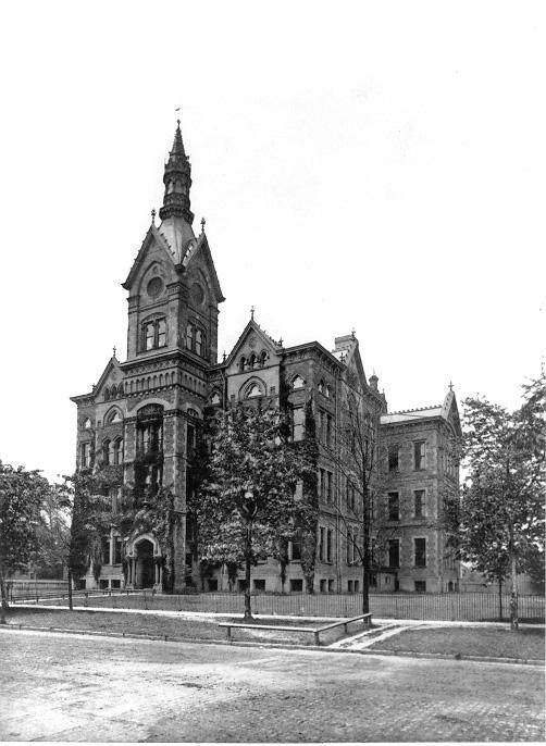 The Gothic style Central High School building, ca. 1888