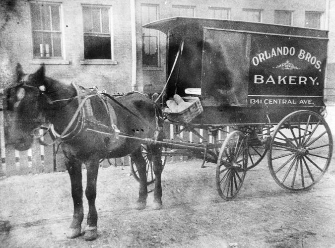 Orlando Baking Co. delivery carriage, ca. 1909. Courtesy of the Plain Dealer.