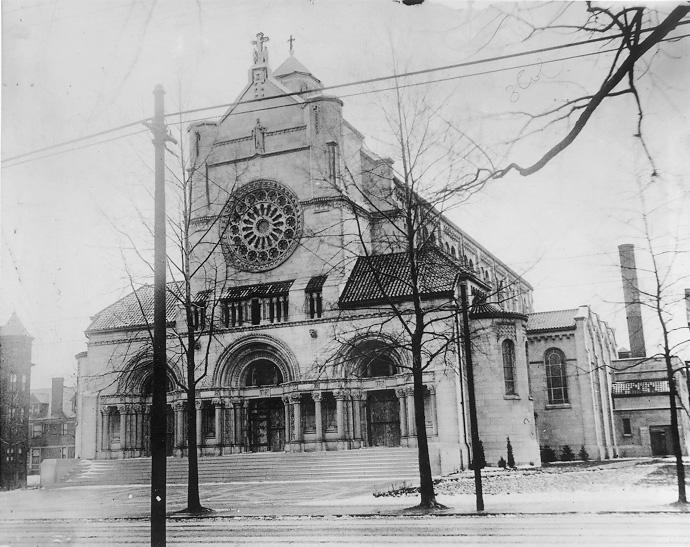 St. Agnes Catholic Church at Euclid and E. 81st., ca. 1940. Cleveland Press Collection, CSU Archives.