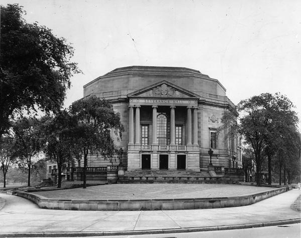 Severance Hall, East Blvd. and Euclid Ave., home to the Cleveland Orchestra and the Musical Arts Association, n.d. WRHS.