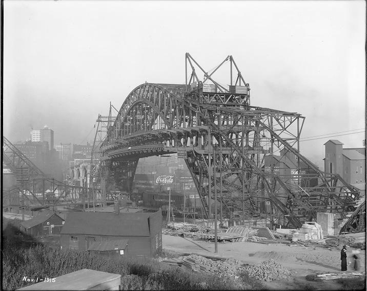 The construction of the Detroit-Superior (Veterans