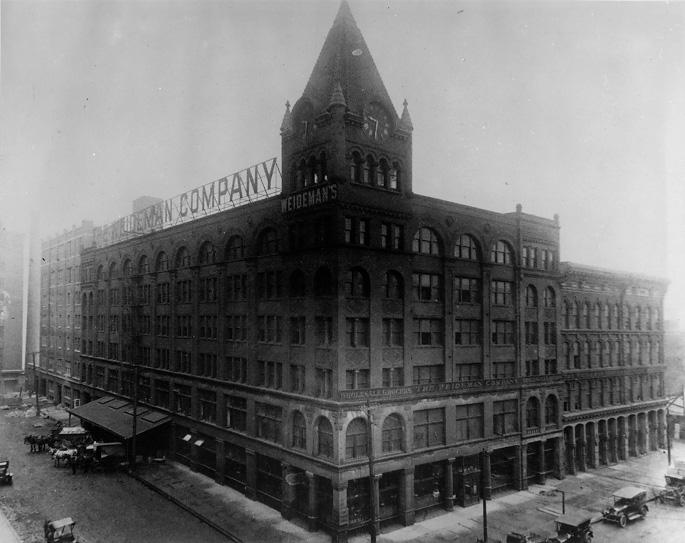 The Weideman Building, on W. 9th St. near Lakeside Ave., ca. 1920. (CPL)