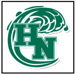 Picture of the Holy Name High School Logo, which is a green wave surrounding the letters H and N.