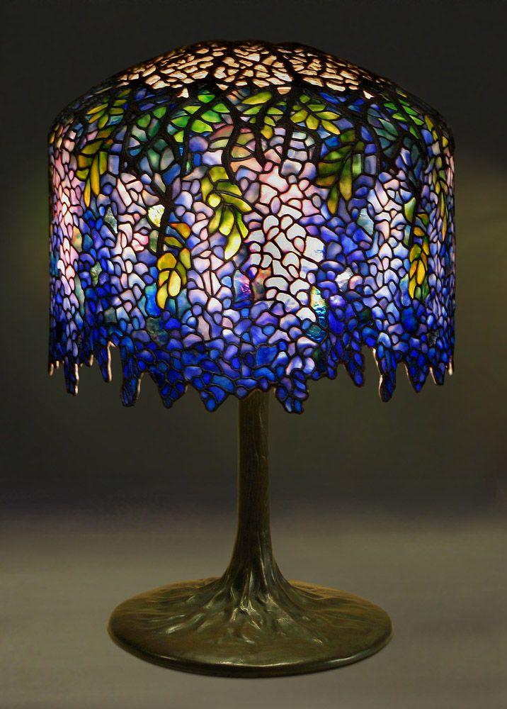 Royal Blue Wisteria Table Lamp