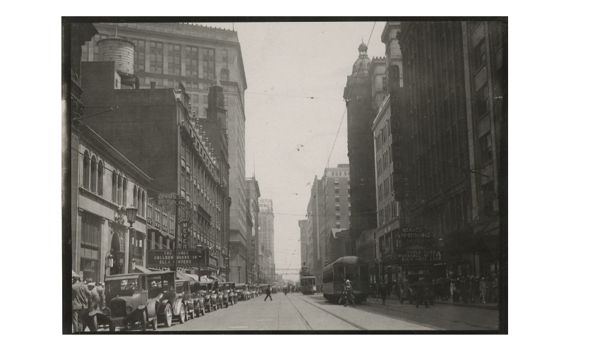 Euclid Avenue near East 9th Street in the 1920s