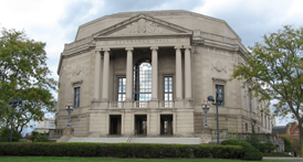Exterior of Severance Hall in Cleveland, Ohio