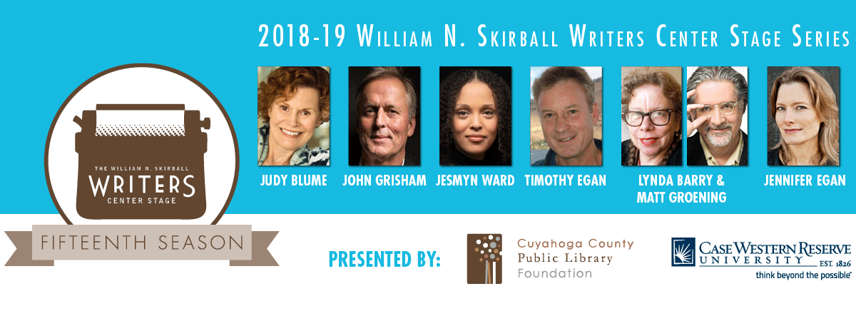 Profile images of each speaker in the 2018-2019 Writers Center Stage series.